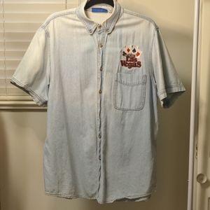 Vintage Demin Button Up Shirt Size L/XL